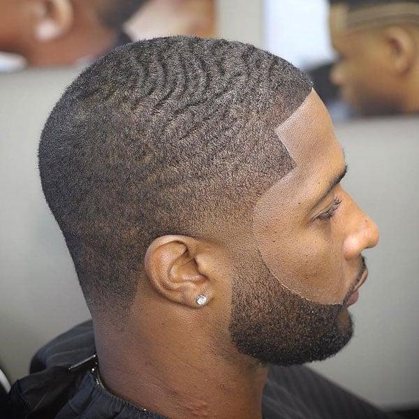 Taper Haircut Black Men Waves 18