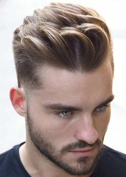 Textured Modern Quiff Fade Haircut