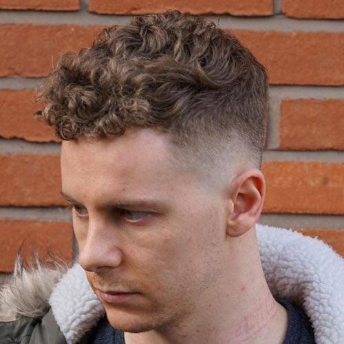 Caesar Cut with Curly Hair