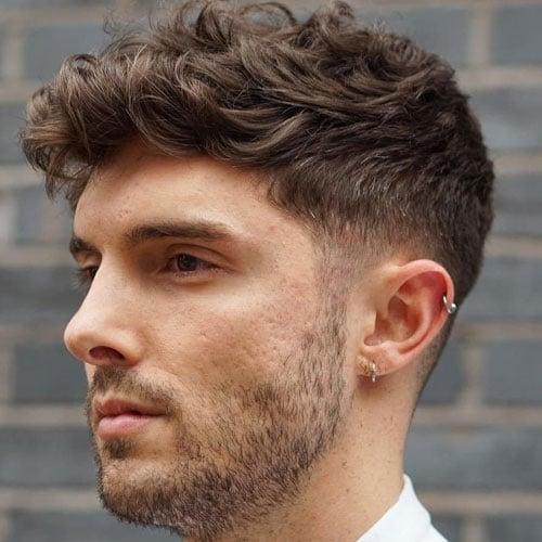 Caesar Haircut For Thick Wavy Hair