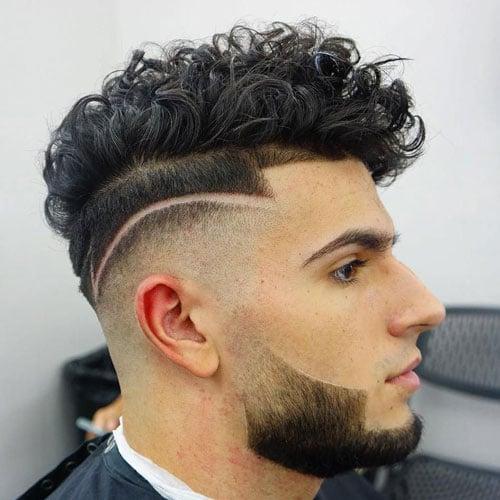 Curly Hair Perm Pompadour
