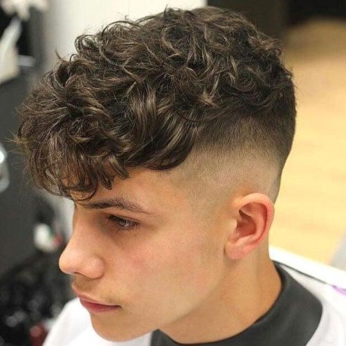 Curly Perm Hair Fringe Men