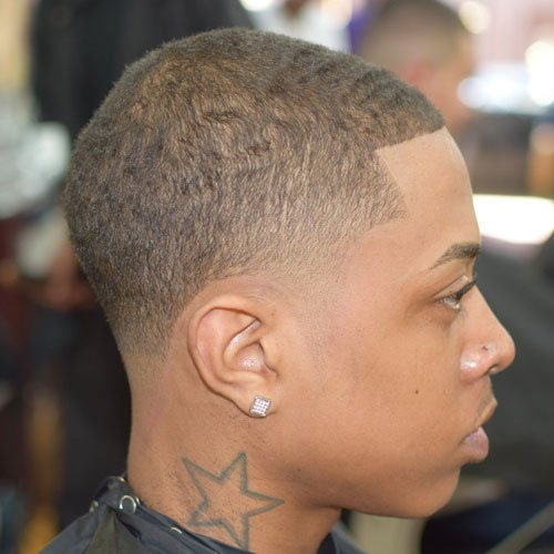 Dark Caesar Haircut