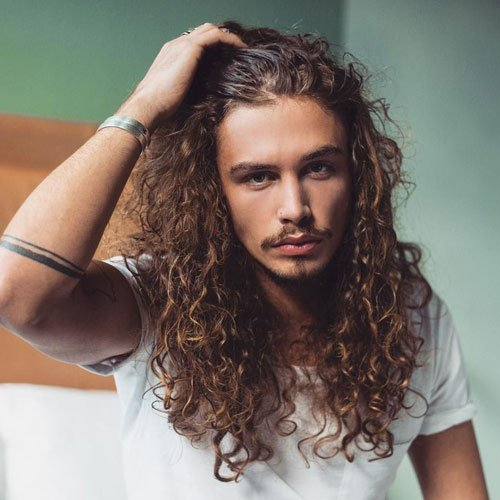 Men's Long Hair Perm