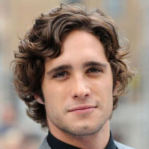 Middle Part with Curly Perm