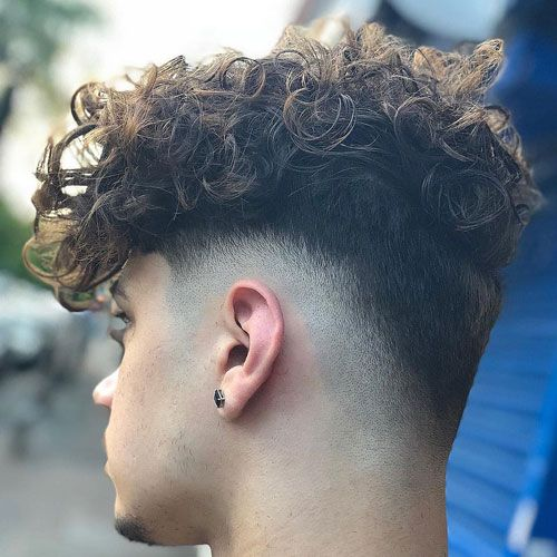 Skin Mid Fade Haircuts with Perm
