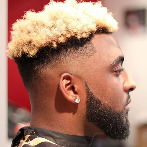 Faux Hawk Fade For Black Men