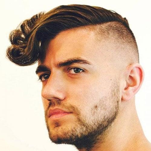 Side Part Undercut Wavy Hair