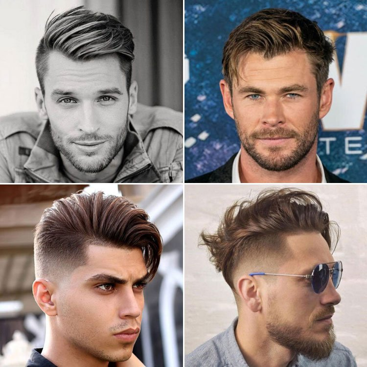 Side Swept Hair Men