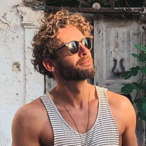 Messy Curly Hairstyles For Men