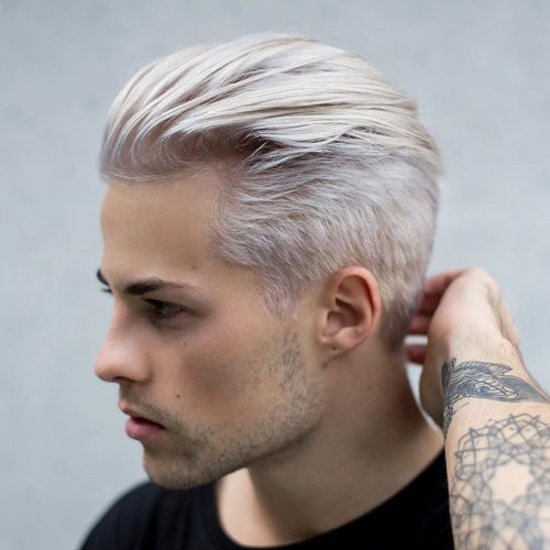 Slicked Back Taper Hairstyle
