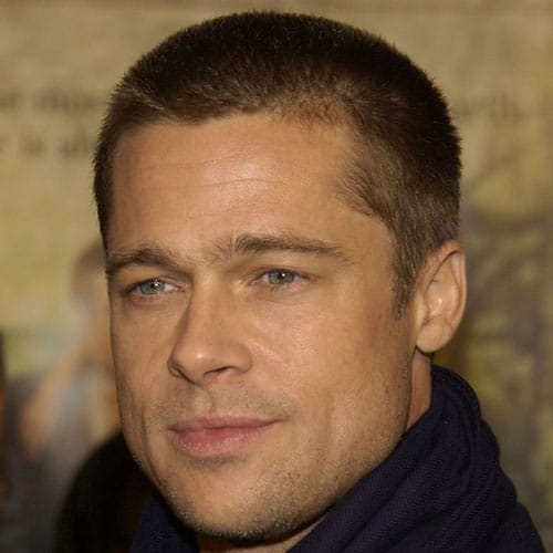 Brad Pitt Buzz Cut