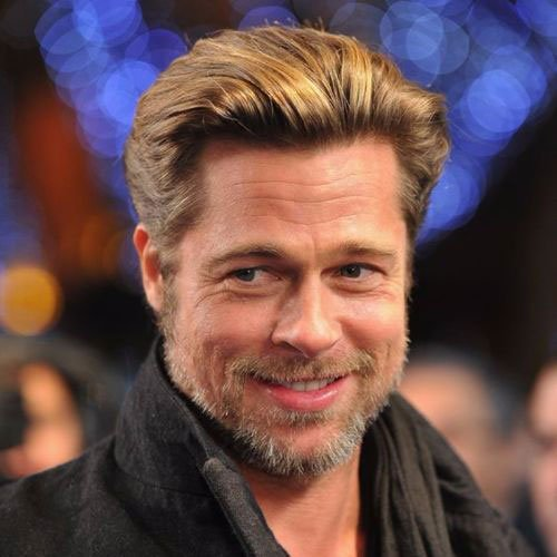 Brad Pitt Medium Length Hairstyles