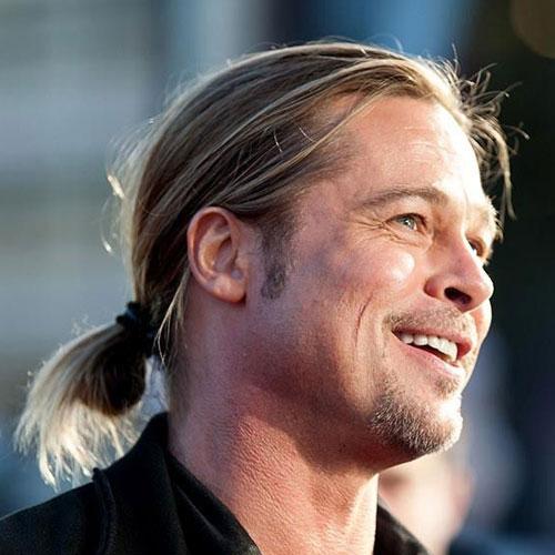 Brad Pitt Ponytail