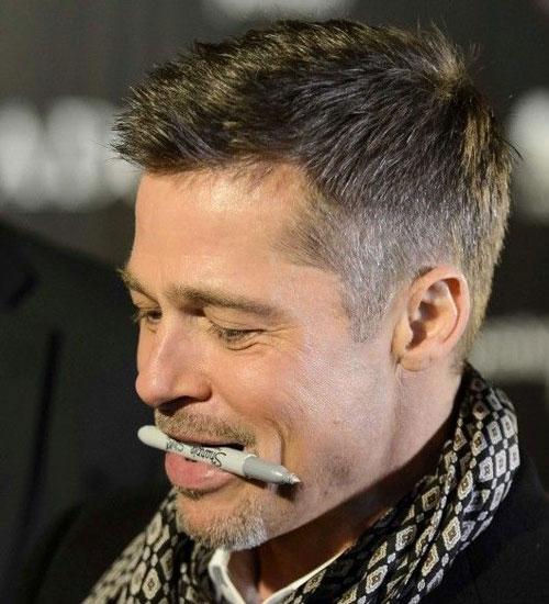 Brad Pitt Short Hairstyles