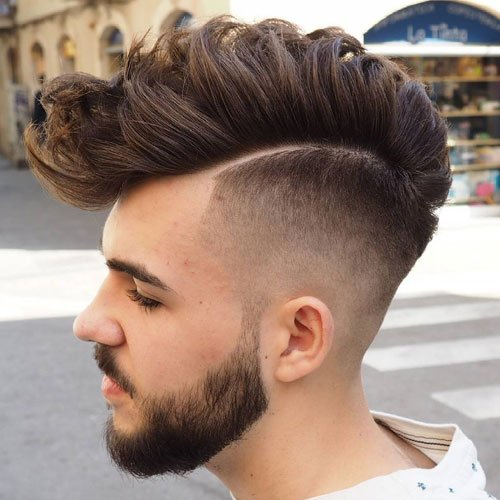 Faux Hawk Fade Haircuts