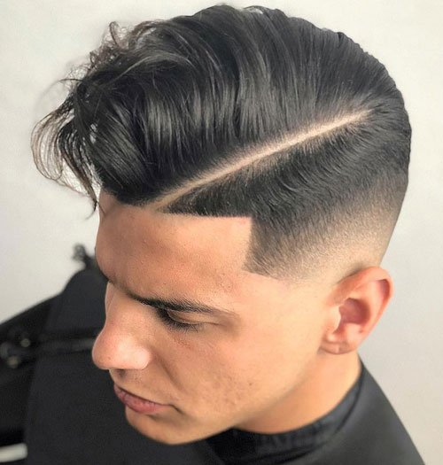 Hard Side Part Fade Hairstyle