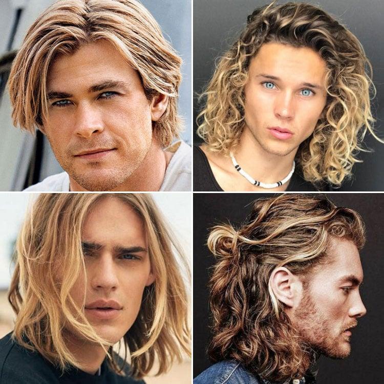 Long Blonde Hair Men