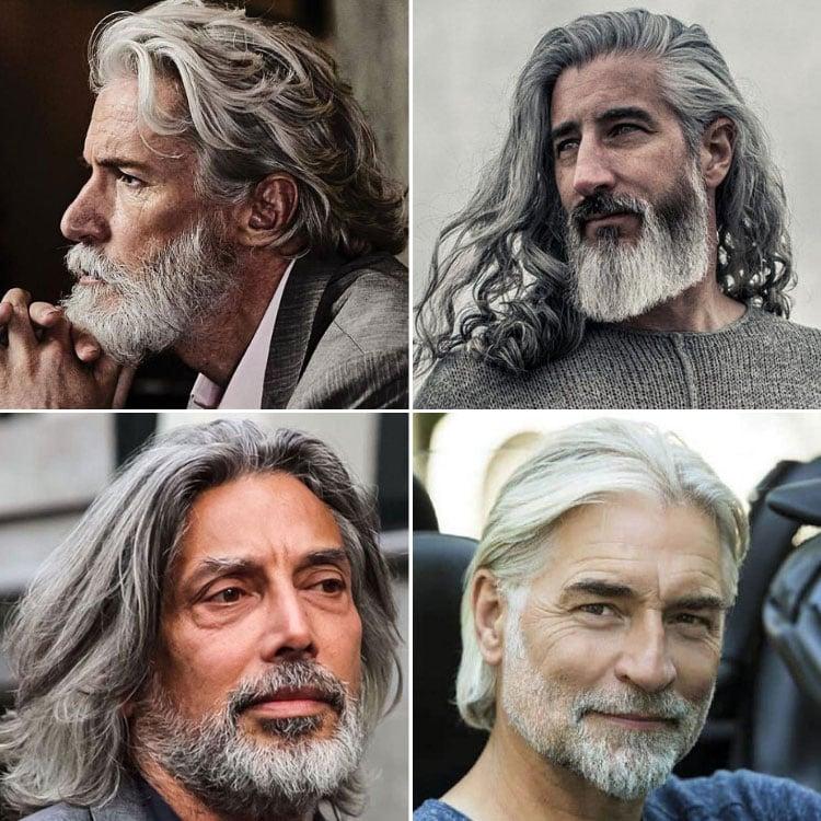 Long Gray Hair Men
