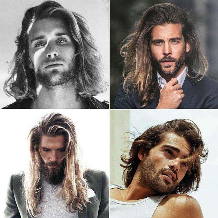 Long Straight Hair Men