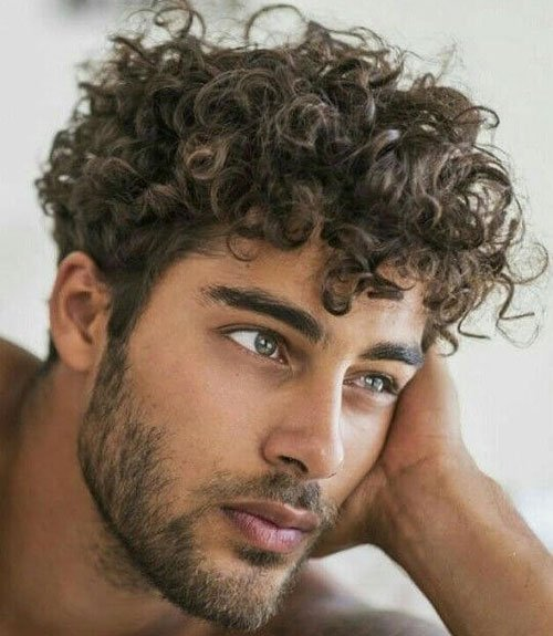 Medium Curly Hairstyles Men