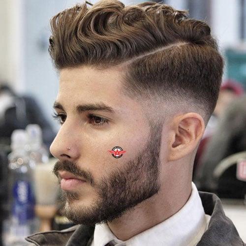 Medium Wavy Hair Men