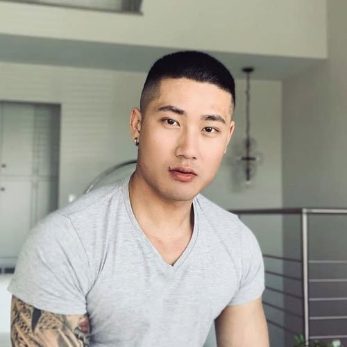 Buzz Cut For Asian Men
