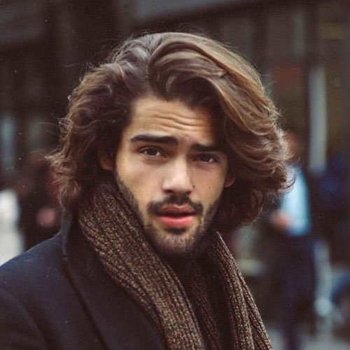 Long Wavy Hair Men