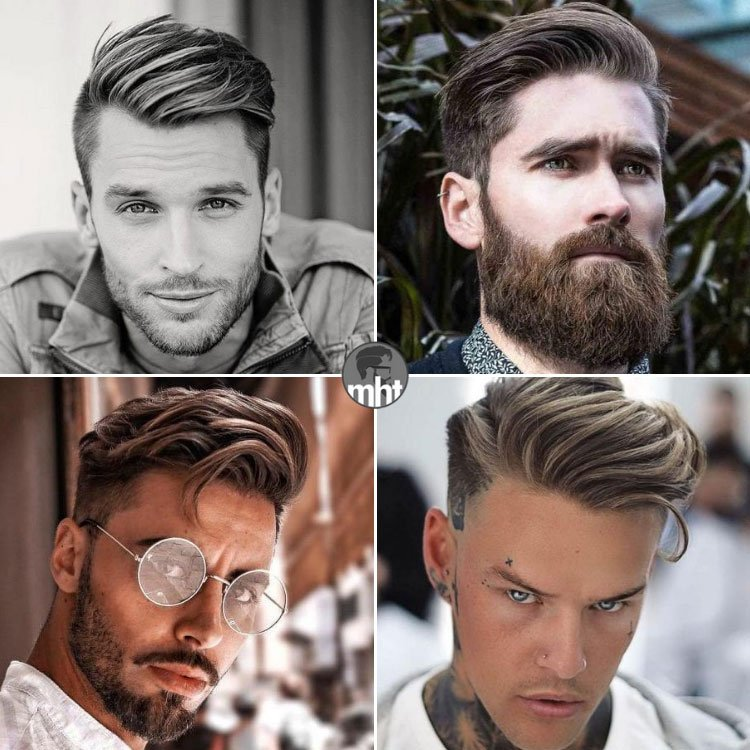 Side Swept Hair Men