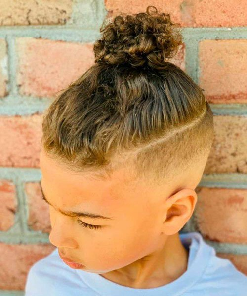 High Top Knot For Boys