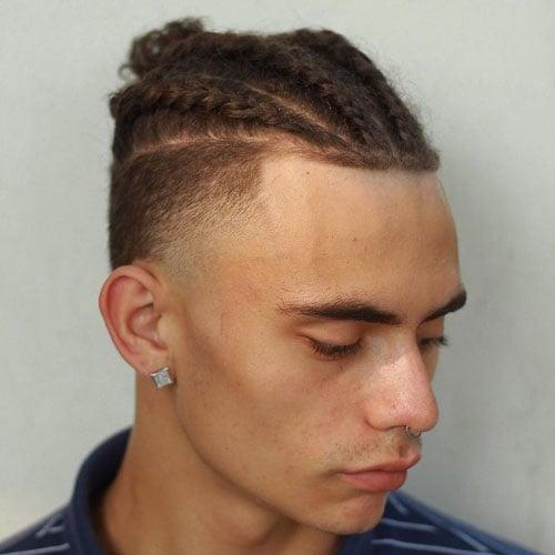 Straight Hair Braids Men