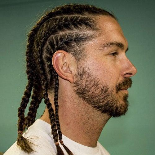 White Men's Braided Hairstyles