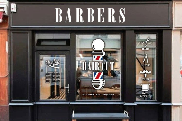 Barber Shop Signage In The Front