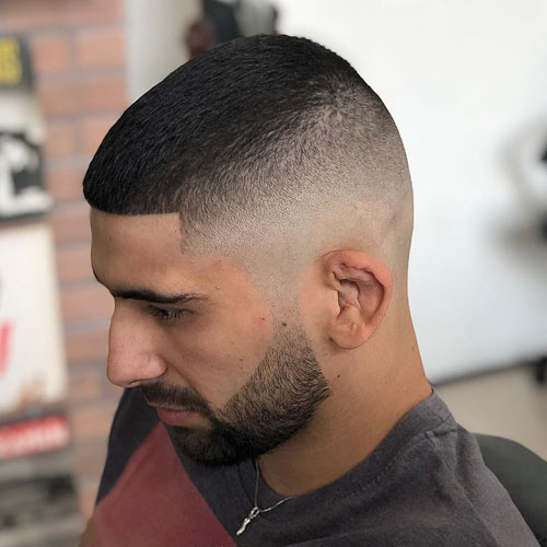 Butch Cut with High Skin Fade Haircut