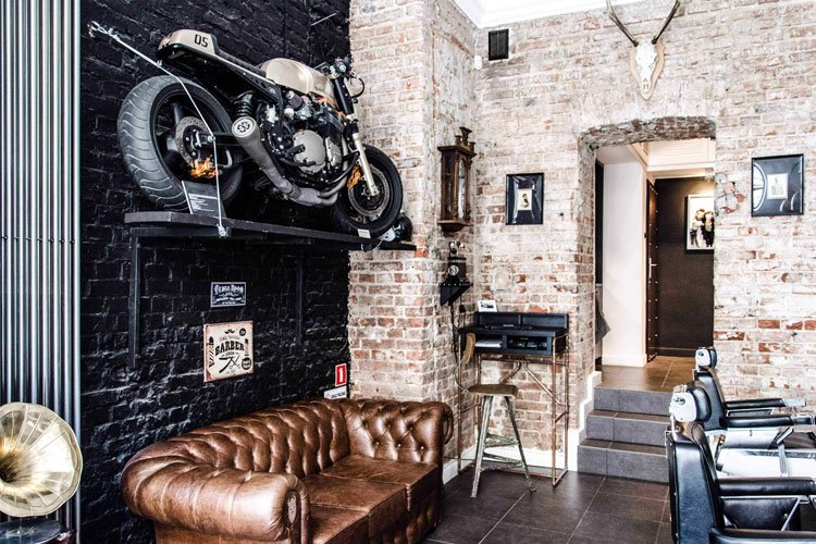 Cool Barber Shop Waiting Area Couch