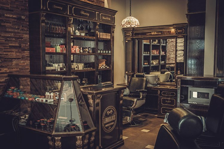 Traditional Barber Shop Front Area