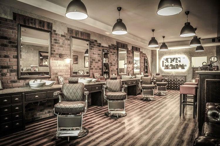 Traditional Vintage Barber Shop Design