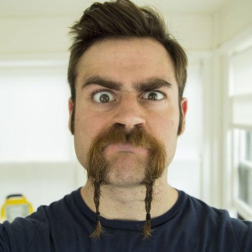 Braided Mustache