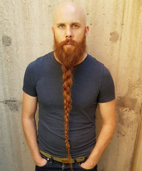 Long Braided Beard Styles