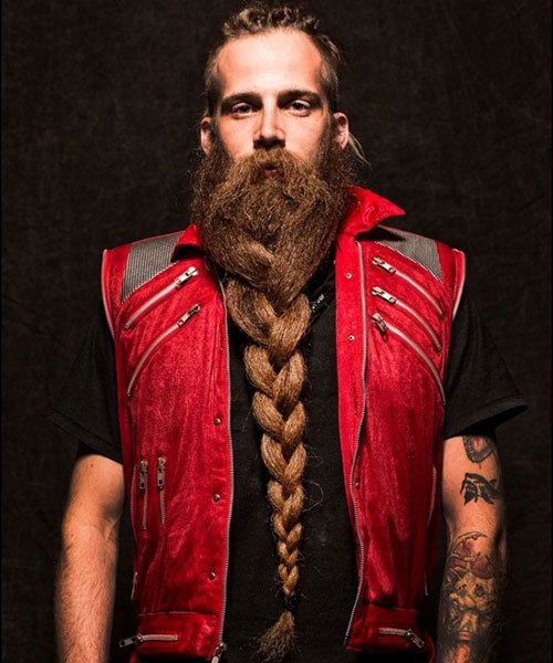 Long Braided Beard