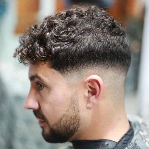 Curly Hair Crew Cut