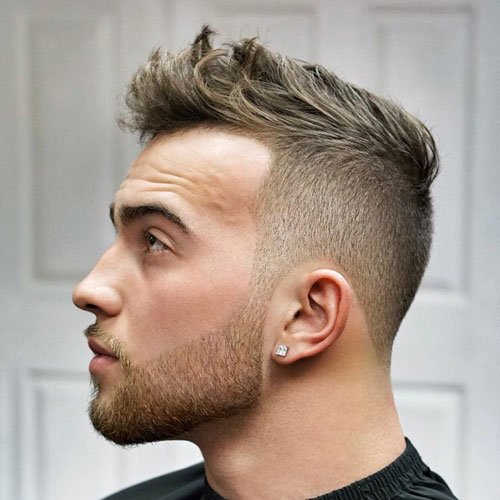Messy Crew Cut Taper Hairstyle