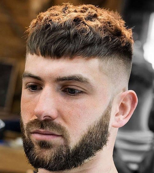 French Crop Top Mid Fade Haircut