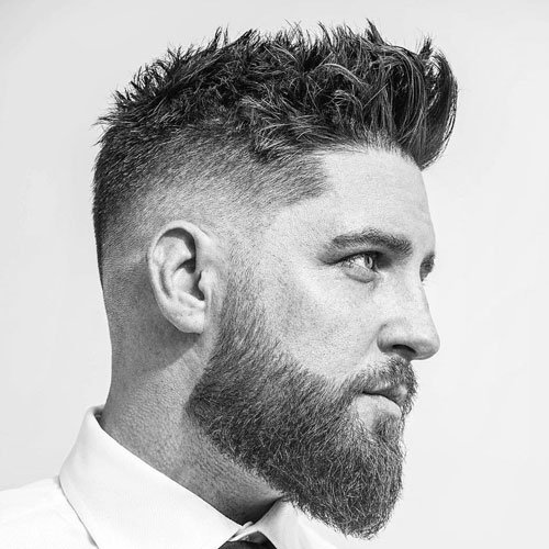 Messy Mid Fade Hairstyle