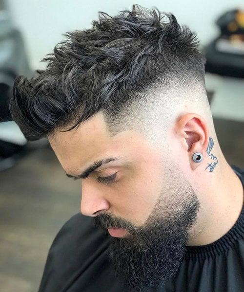 Mid Bald Fade Haircut