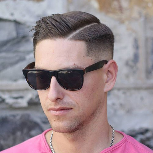 Mid Fade Hard Side Part