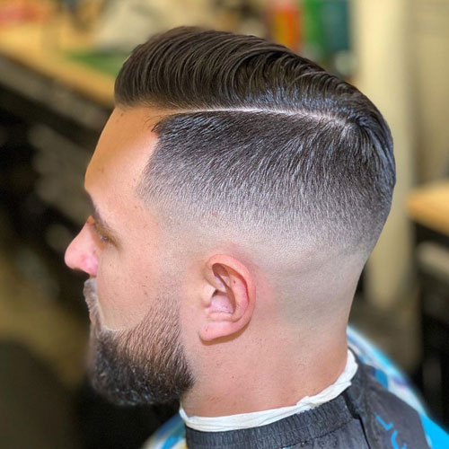 Mid Fade Side Part