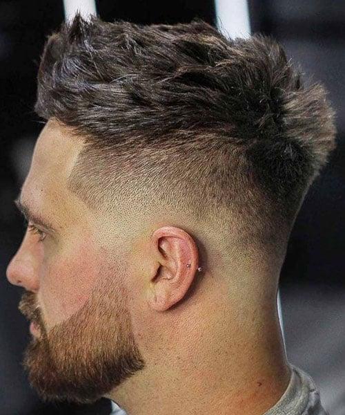 Mid Fade Straight Hair