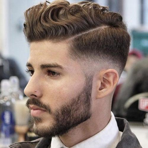 Mid Fade Wavy Hair