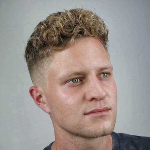 Mid Fade with Curls
